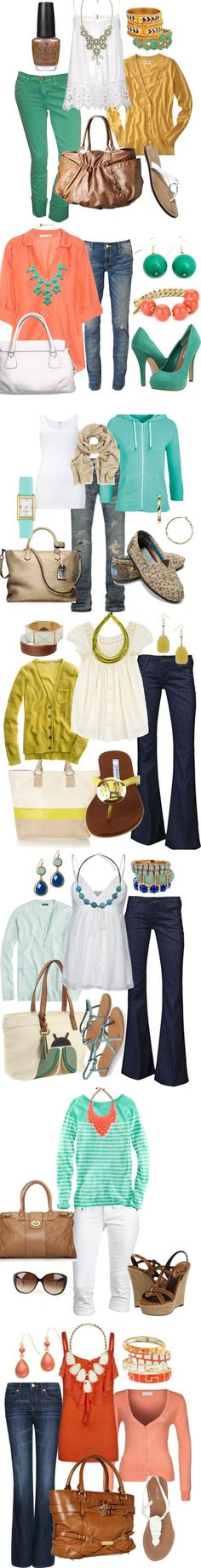 STILL LOVE THESE COLORS!!!!        Pastels Spring Fashion 2013 at www.honeybearlane.com #spring #fashion