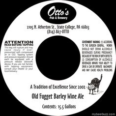 Otto's Pub & Brewery–Old Fugget Barley Wine