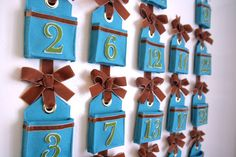 DIY felt advent calendar