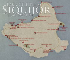 Siquijor Travel Guide Map