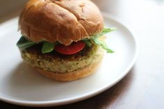 Hummus and (basil) Mint Veggie Burgers recipe on Food52