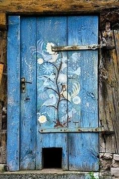 Pattern on Blue Door   ..rh                                                                                                                                                      More