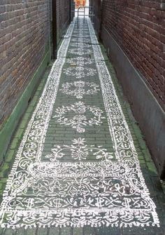 decorative rug in the streets…