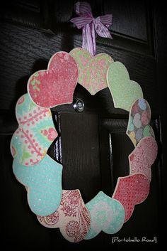 Valentine wreath! Looks fun!