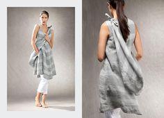 oska  grey striped dress