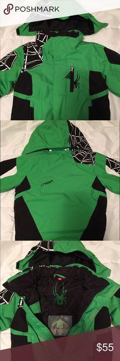 Little Boys Spyder Jacket Little boy's green and black Spyder jacket, size 4. Spyder Jackets & Coats