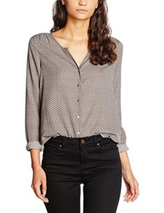 Teddy Smith Women's Celia Blouse, Gris (Acier)