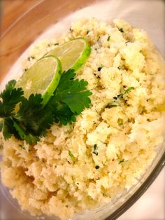 Cilantro-Lime Cauliflower Rice