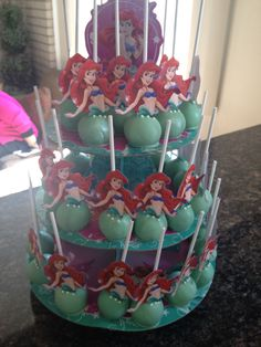 Ariel cake pop display