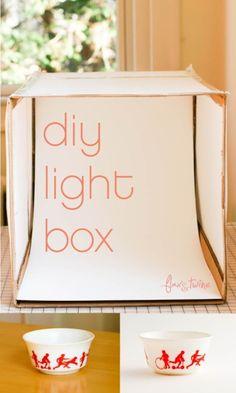 DIY Foto Caja de luz - un proyecto acabado de cincuenta - lino y Cordeles