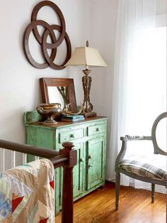 Add storage and personality to a hallway or stair landing with flea market cabinets and buffets: http://www.bhg.com/decorating/decorating-style/flea-market/ideas-for-flea-market-finds/?socsrc=bhgpin060214fabvignettes&page=9