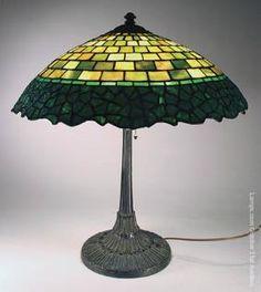 Wilkinson Leaded Glass Lamp Geometric