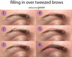 How to fill in over tweezed brows