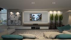 Projeto by NK Arquitetura - Nicolle Nogueira e Katherine Heim Weber - Painel TV   Sala de Estar