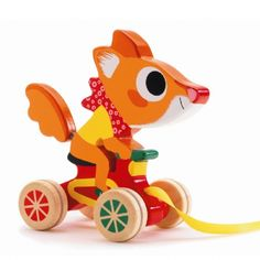 Djeco Fox Pull Along Toy from Little Baby Company