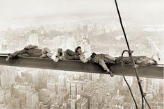 Men on Girder, 1930 Poster
