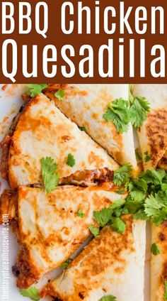 I love trying new flavors on classic recipes and this BBQ Chicken Quesadilla is one of my favorites. Filled with your favorite BBQ sauce, chicken, onion, and my favorite, cilantro! Bbq Chicken Quesadilla, Bbq Chicken Wraps, Shredded Bbq Chicken, Rotisserie Chicken, Bbq Chicken Sides, Healthy Quesadilla, Chicken Works, Quesadilla Recipes, Appetizer Recipes