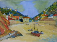 Port Isaac - Painting by Roger Jardine - Artists in Cornwall UK Ok Uk, Aesthetic Objects, Port Isaac, Illustration Art, Illustrations, Watercolour Art, Hotel Deals, Cornwall, Travel Pictures