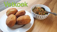 Vetkoek (South African fried buns) – Homemade with Alet South African Recipes, Dry Yeast, Large Bowl, Fries, Sweet Treats, Appetizers, Recipe Ingredients, Lunch, Canola Oil