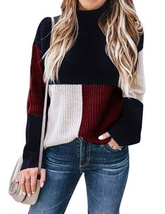 Lutratocro Mens Long Sleeve Ribbed Knit Pullover Fashion High Neck Jumper Sweaters