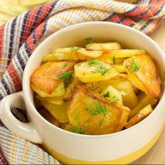 These dill potatoes are baked with garlic, salt and pepper.. Dill Potatoes Recipe from Grandmothers Kitchen.
