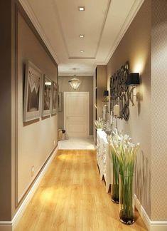 Astonishing Home Corridor Design For Your Home Inspiration - Ceiling design House Ceiling Design, Ceiling Design Living Room, Home Room Design, Home Interior Design, Living Room Decor, House Design, Interior Ideas, Hallway Ceiling, Hallway Light Fixtures