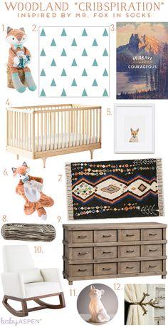 Cribspiration: Fox Nursery | Woodland Nursey Inspired by Baby Aspen's Mr. Fox in Socks