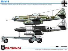 Messerschmitt Me-262 Mistel-6 Luftwaffe, Airplane Painting, Airplane Art, Me262, Messerschmitt Me 262, Ww2 Planes, Military History, Ww2 History, Ww2 Aircraft