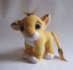 27688ff3f2c 1990s PLUSHIE Simba The Lion King Disney by VintagePositivePower Lion  Movie