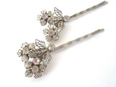 Crystal Bridal Hairpieces Vintage Rhinestone by PlumePretty, $36.00