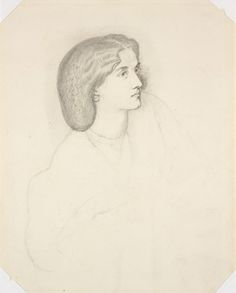 Dante Gabriel Rossetti British, 1828-1882 Portrait of Lady Sophia Dalrymple, ca. 1858-1862 Black and white chalks and pen and ink on wove paper/RISD Museum