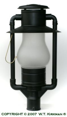Just like the old days, W.T. Kirkman No. 300 Frontier Post Lamp at W.T. Kirkman Oil and Electric Lanterns