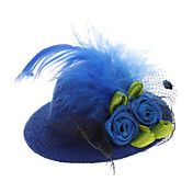 For Tea Party :)  Pets Lovely Lace Flower Billycock Style Hairp... – USD $ 1.49
