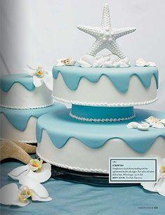 ..starfish w/shells wedding cake topper