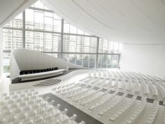 Heydar Aliyev Centre Baku | Kristalia | Media - Photos and Videos - 1 | Archello Auditorium Architecture, Auditorium Design, Zaha Hadid Architecture, Three Bedroom House Plan, Function Room, Hall Design, Learning Spaces, Concert Hall, Design Projects