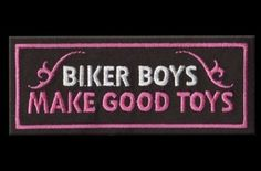 RebelGirl.com & American-Rebel.com: Womens Motorcycle Embroidered Patch BIKER BOYS - GOOD TOYS, Patches, 1986