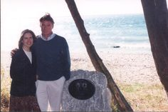 """Chris and Dana visited the """"Is it you"""" plaque on October 30, 1994"""