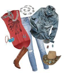 """""""cowgirl chic"""" by birdwalkfarm on Polyvore"""