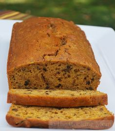 Ingredients: 3 eggs, beaten 2 cups sugar 1 can (15 ounces) pumpkin 2 sticks butter, melted 1 tablespoon vanilla 3 cups flour 1 teaspoon baking soda 1/2 teaspoon baking powder 1/2 teaspoon salt 1 teaspoon cinnamon 2 teaspoons pumpkin pie spice 1 cup chopped walnuts (optional) Directions: In a bowl, whisk together the first 5 …