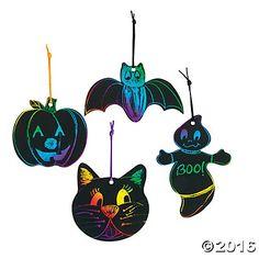 Magic Color Scratch Halloween Shapes