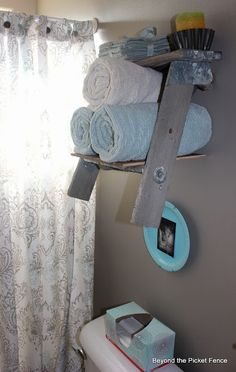 Ladder Shelf Towel Holder