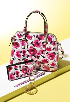 Embrace the flower power! This painterly rose print by Kate Spade New York is so pretty, we'll take one of everything.