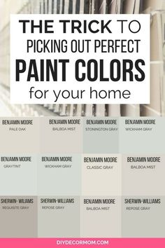 living room paint color ideas The best neutral paint colors for your living room and your whole house plus the trick to picking out the perfect neutral paint color you won't Neutral Gray Paint, Best Gray Paint Color, Best Neutral Paint Colors, Greige Paint Colors, Paint Colors For Home, Paint Colours, Neutral Living Room Paint, Interior House Paint Colors, Fixer Upper Paint Colors