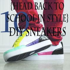 10 Ideas for DIY Sneakers