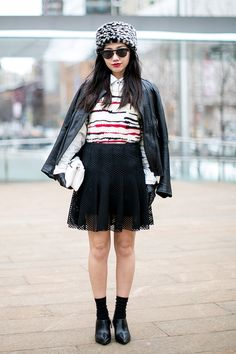 The skirt is my favorite part of this outfit. #nyfw