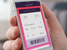 """iOS Up on Twitter: """"Boarding Pass –  User interface by @leozakour #concept  https://t.co/orlkU9QPrk https://t.co/Le6jxc61aJ"""""""