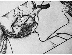 Vehemencia - #redmoon #serie\ #edicion 1  #amor #pasion #moon #parejas #sol #solyluna #drawn #drawing #ilustraciones #love #lovely #manoalzada #dibujo  #dibujosalapiz #art #artwork #preview @arcadiawall #illustration  #sansalvador  #elsalvador