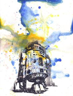 Star Wars Art R2D2 Watercolor Painting  Star Wars Fine by idillard, $18.00