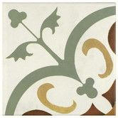 "backsplash? Found it at Wayfair - Revive 7.75"" X 7.75"" Ceramic Hand Painted Tile in Cream"
