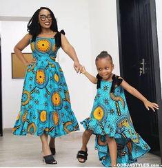 2019 Ankara Designs for Mother and Duaghters - Naija's Daily Latest Nigerian Ankara Styles, Beautiful Ankara Styles, Ankara Dress Styles, Latest Ankara, African Fashion Ankara, Latest African Fashion Dresses, African Print Fashion, Africa Fashion, African Attire